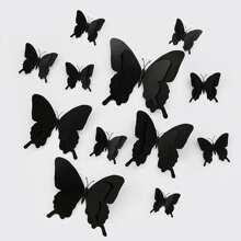 12 piezas pegatina de pared con mariposa 3D