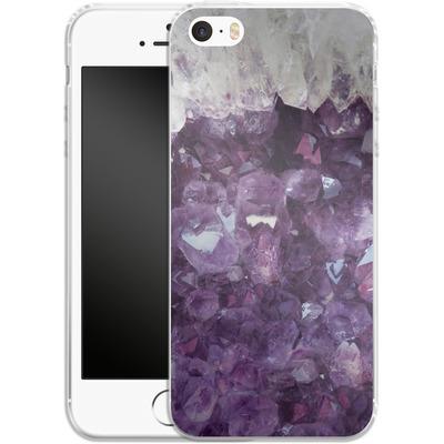 Apple iPhone SE Silikon Handyhuelle - Bold Ametista von Emanuela Carratoni