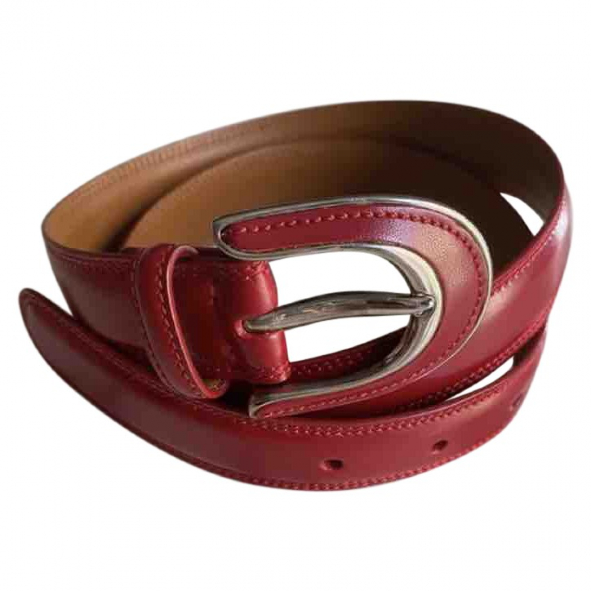 Tod's \N Red Leather belt for Women 70 cm