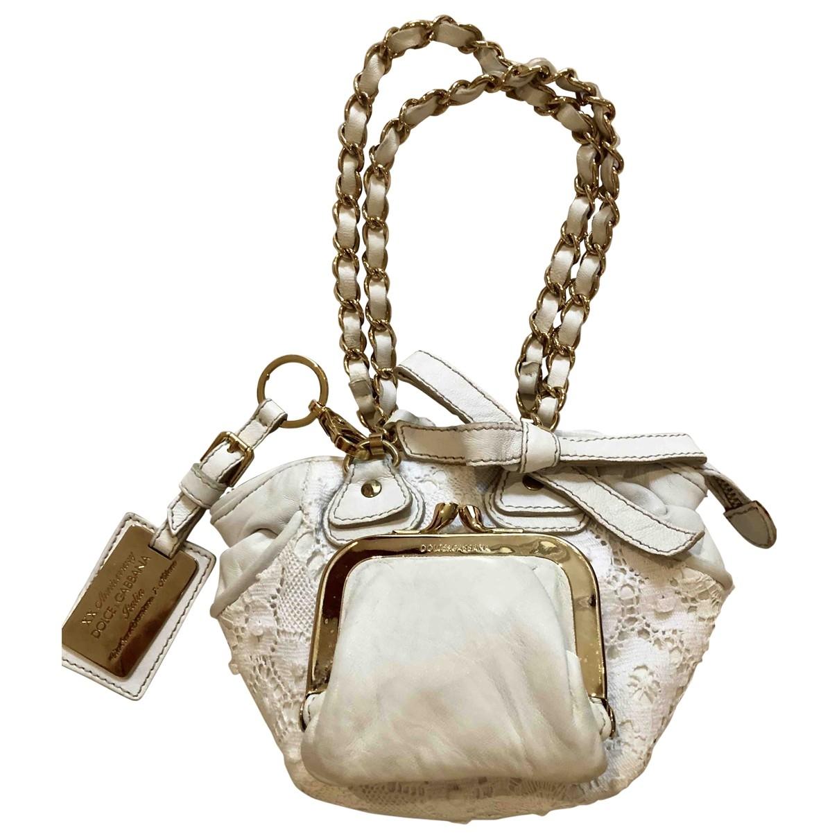 Dolce & Gabbana \N Handtasche in  Weiss Baumwolle