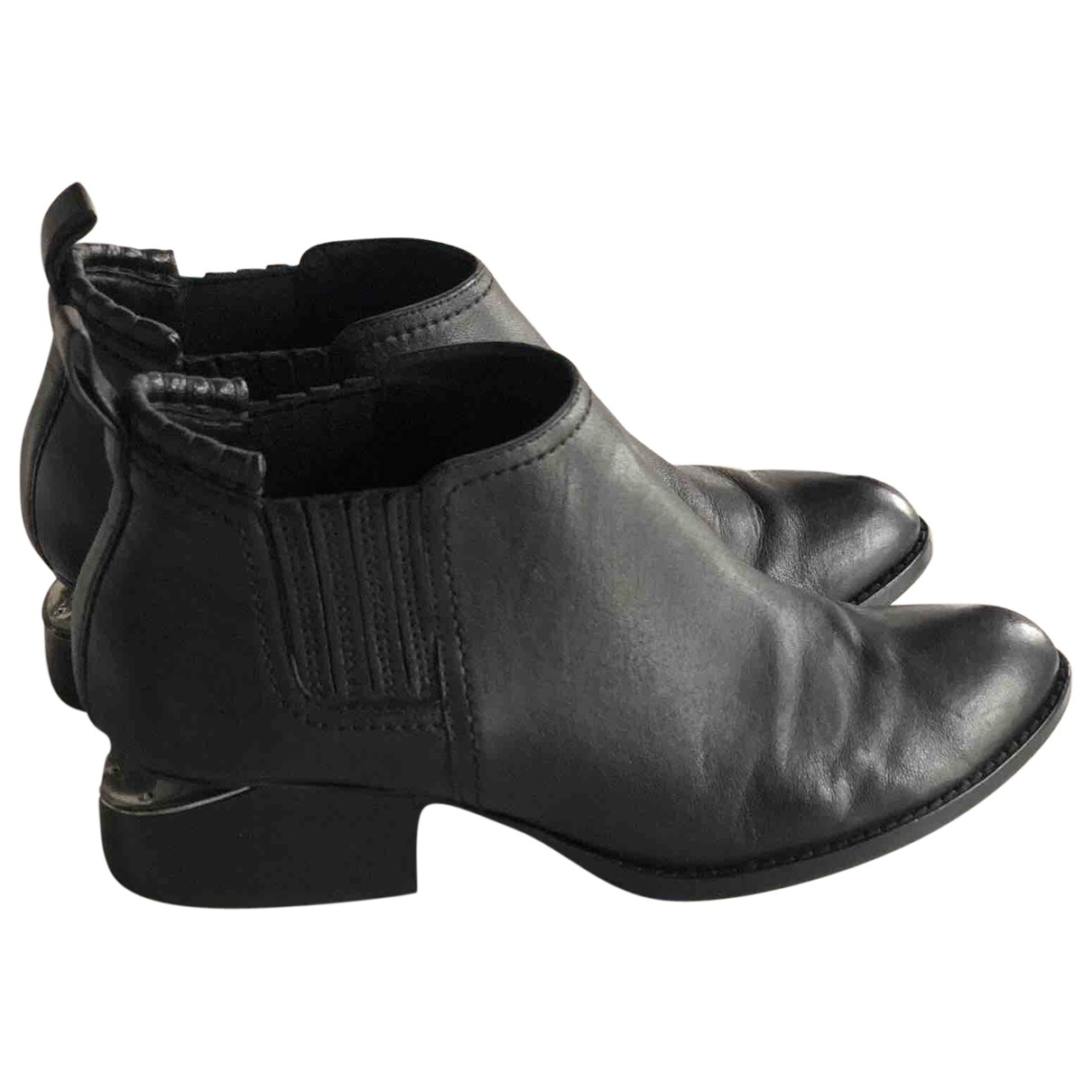 Alexander Wang - Boots Kori pour femme en cuir - noir