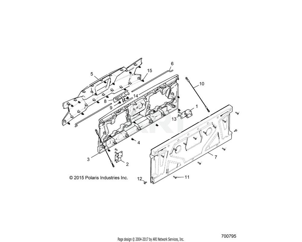 Polaris OEM 2635928-750 ASM-TAILGATE, PNT, ORG.R   [INCL. 1-15][U99AF, BF]