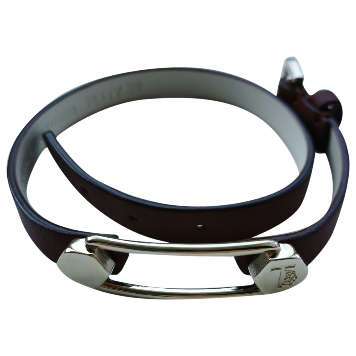 Tod's \N Burgundy Leather bracelet for Women \N