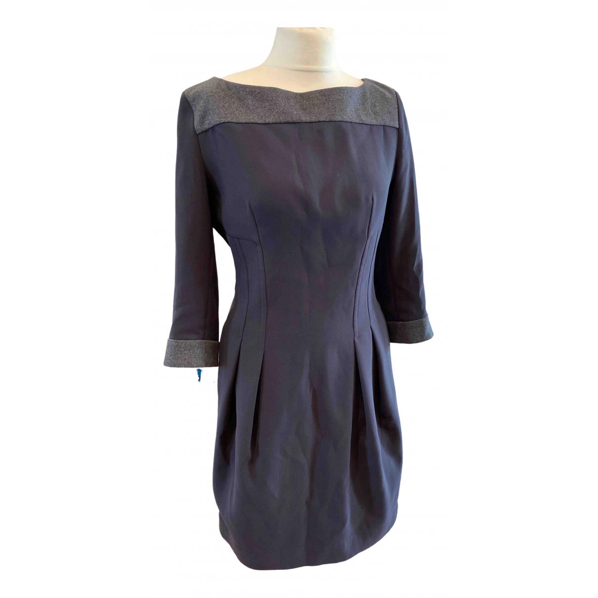 Sport Max \N Grey Wool dress for Women 46 IT