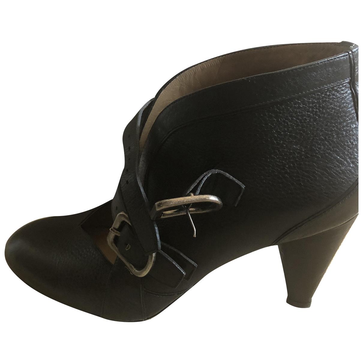 Sonia Rykiel \N Stiefeletten in  Schwarz Leder