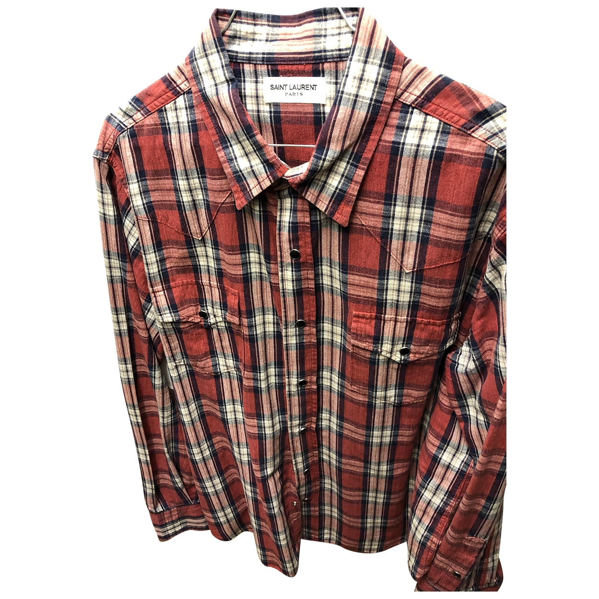 Saint Laurent \N Multicolour Cotton Shirts for Men XL International