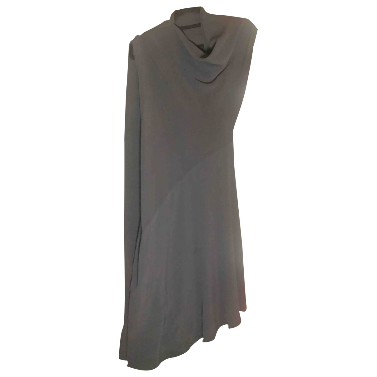Rick Owens \N Anthracite Silk dress for Women 44 IT