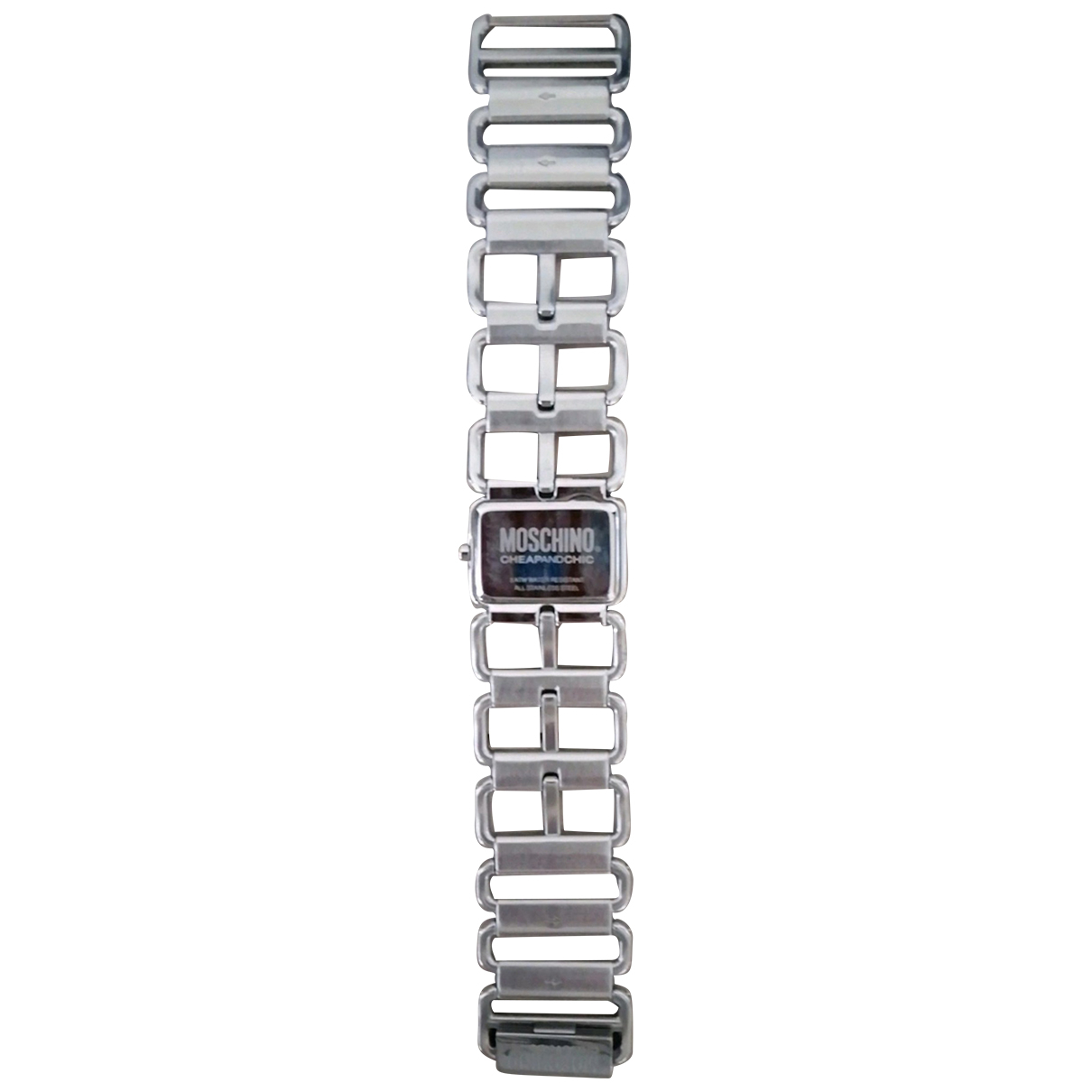 Moschino Cheap And Chic \N Uhr in  Silber Stahl