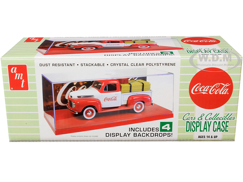 Collectible Display Show Case with Red Display Base and 4