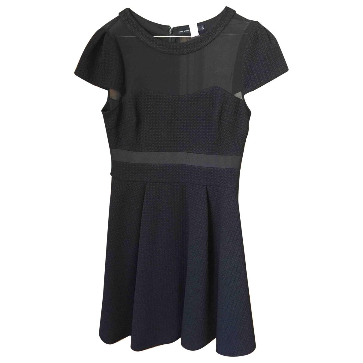 Karen Millen - Robe   pour femme en soie - noir