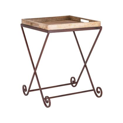 Americana Collection 609701 Iron and Wood Side Table in Antique