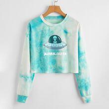 Alien & Tie Dye Sweatshirt