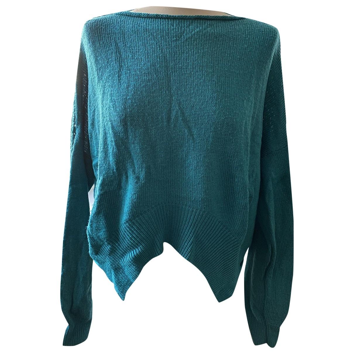 Pinko - Pull   pour femme en laine - bleu