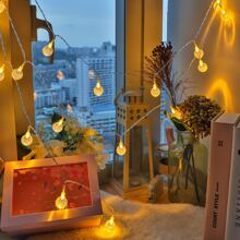 1pc 6m String Light With 40pcs Bulb