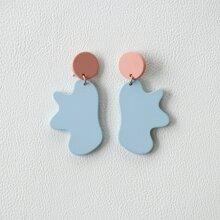 Irregular Acrylic Charm Drop Earrings