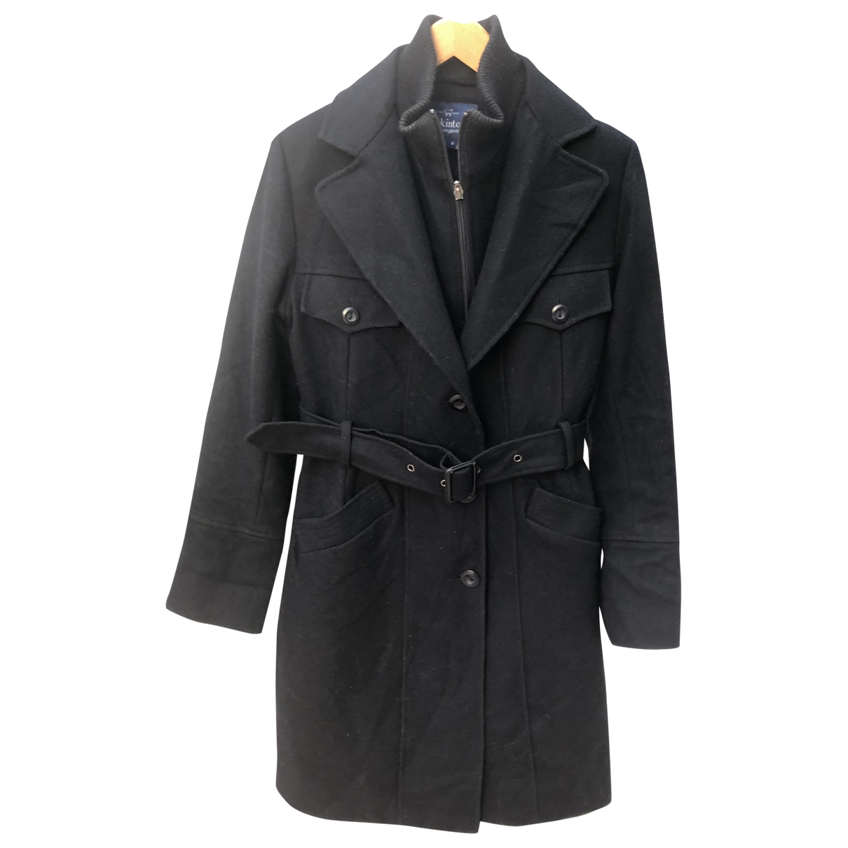 Mackintosh - Manteau   pour femme en laine - noir