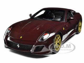 """Michael Mann Ferrari 599 GTO Burgundy """"Elite Edition"""" 1/18 Diecast Model Car by Hotwheels"""