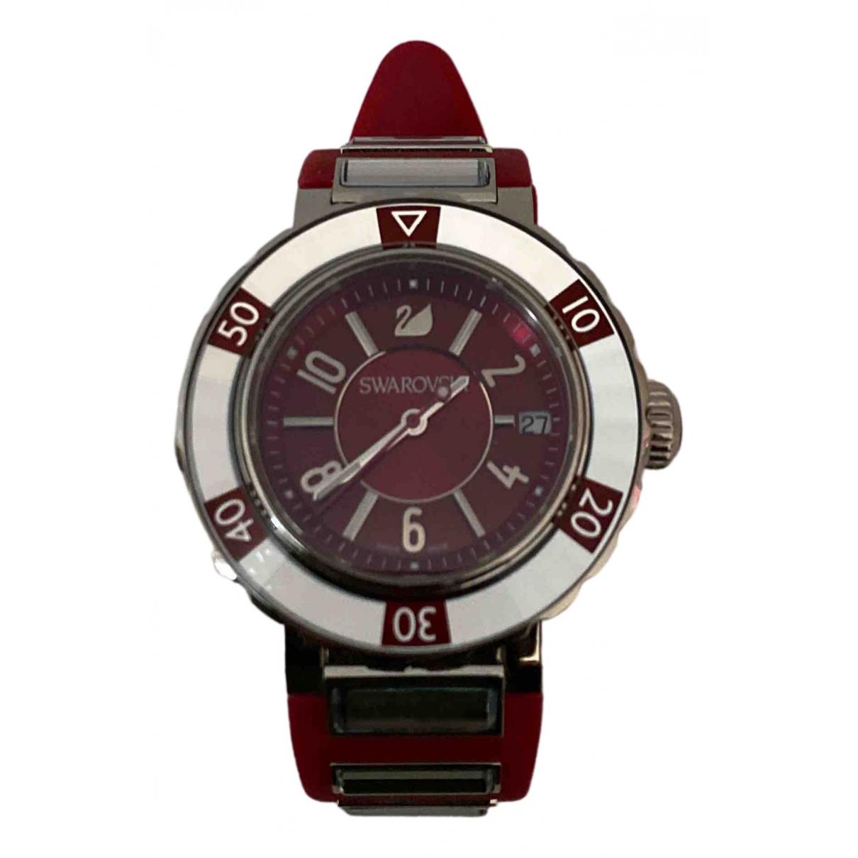 Swarovski \N Uhr in  Rot Stahl