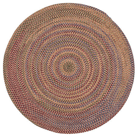 Colonial Mills Andreanna Reversible Braided Round Rug, One Size , Orange