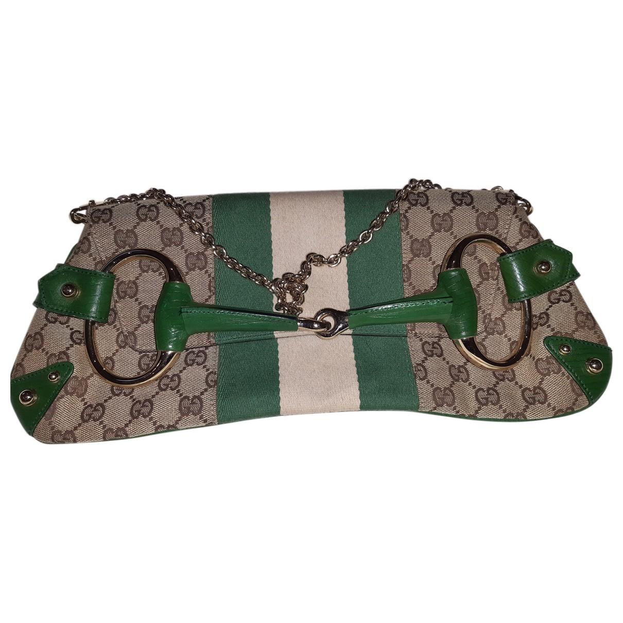 Gucci - Sac a main   pour femme en toile - vert