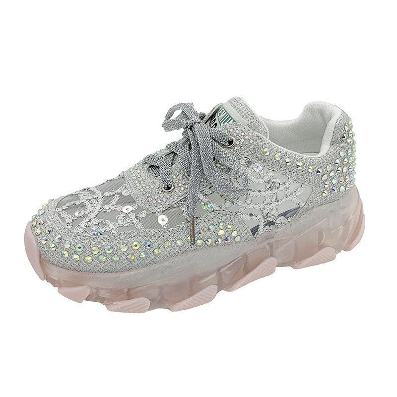 Ericdress Low-Cut Upper Round Toe Rhinestone Casual Sneakers