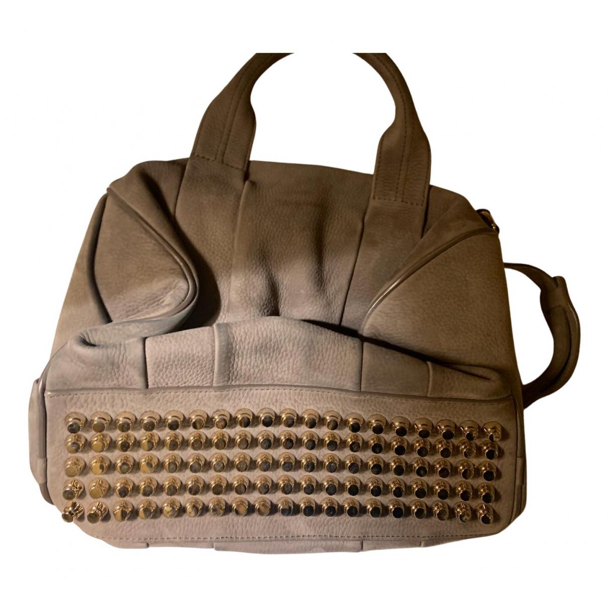 Alexander Wang Rocco Grey Suede handbag for Women N