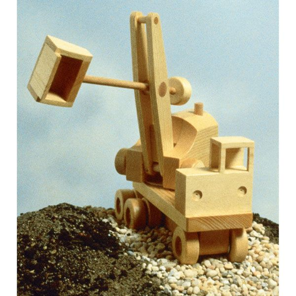 Woodworking Project Paper Plan to Build Excavator (Steam Shovel)