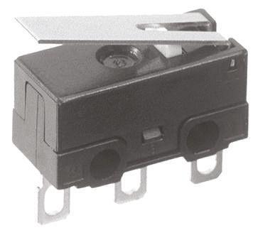 Panasonic SPDT Hinge Lever Microswitch, 100 mA @ 30 V dc