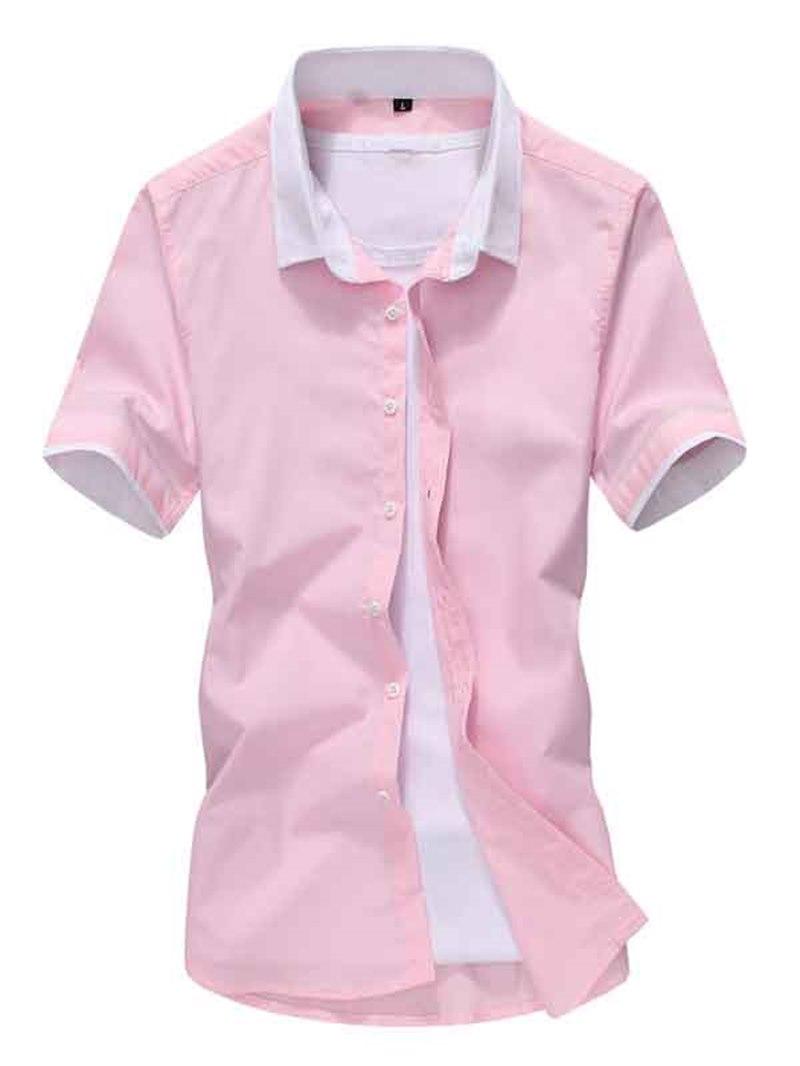 Ericdress Simple Casual Short Sleeve Slim Men's Shirt