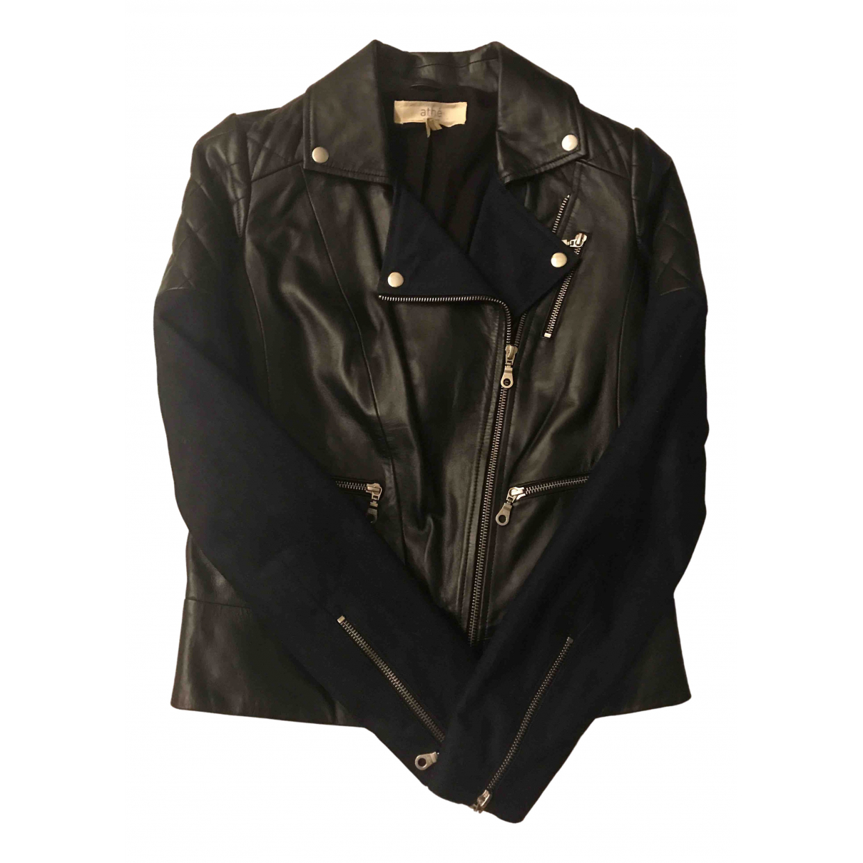 Vanessa Bruno Athe \N Black Leather jacket for Women 34 FR