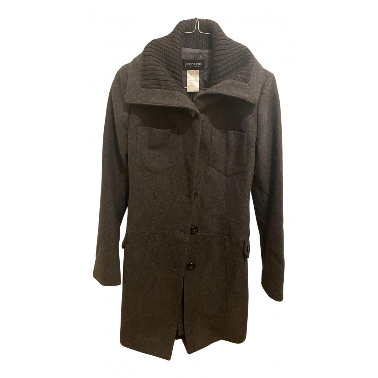 Patrizia Pepe - Manteau   pour femme en laine - gris