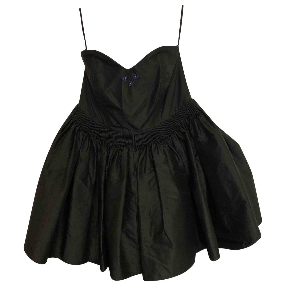 Luella \N Kleid in  Schwarz Synthetik
