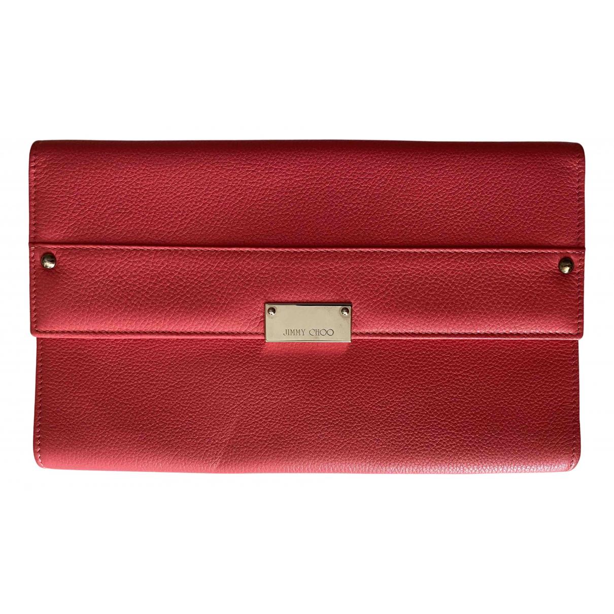 Jimmy Choo N Pink Leather Clutch bag for Women N