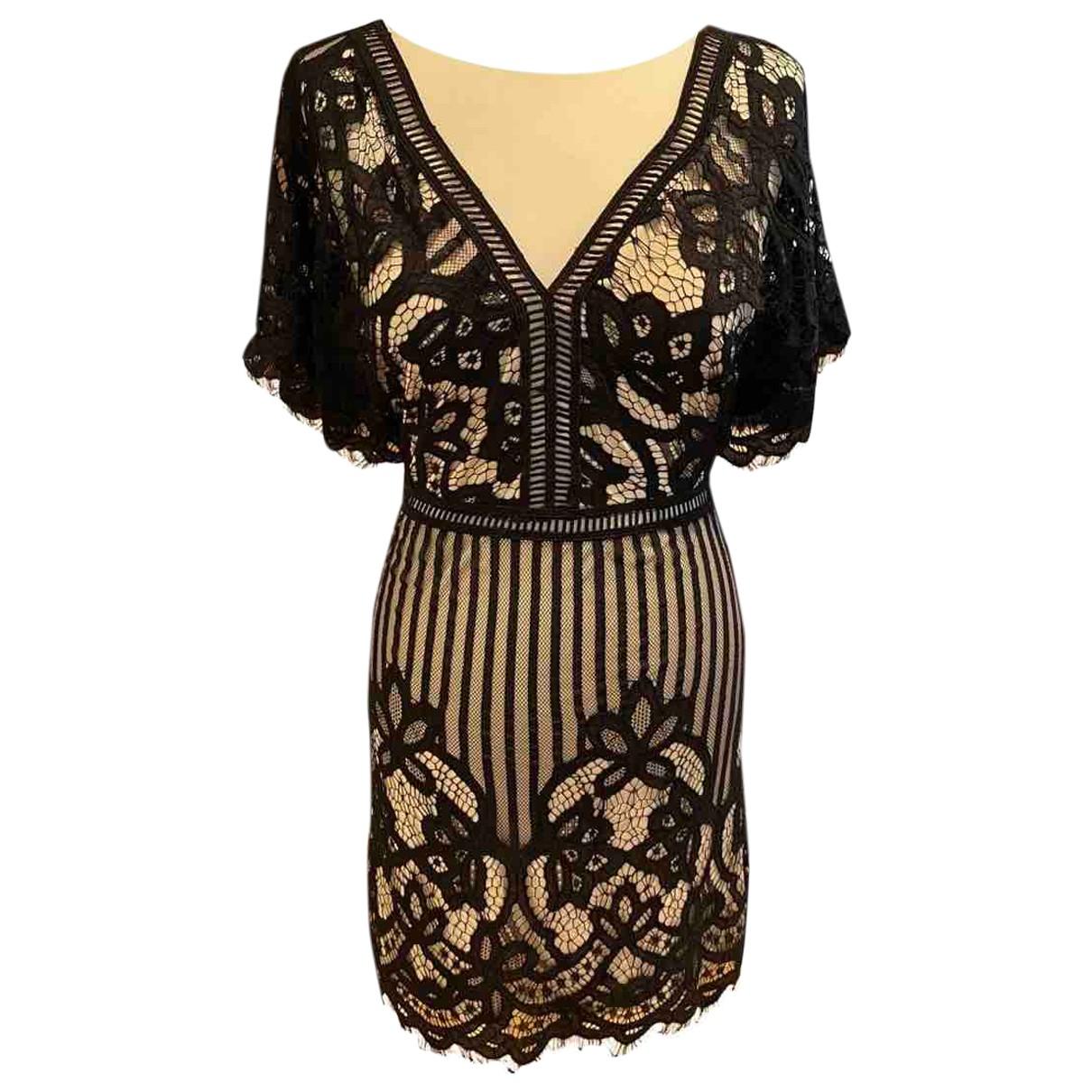 Non Signé / Unsigned N Multicolour Lace dress for Women 10 UK
