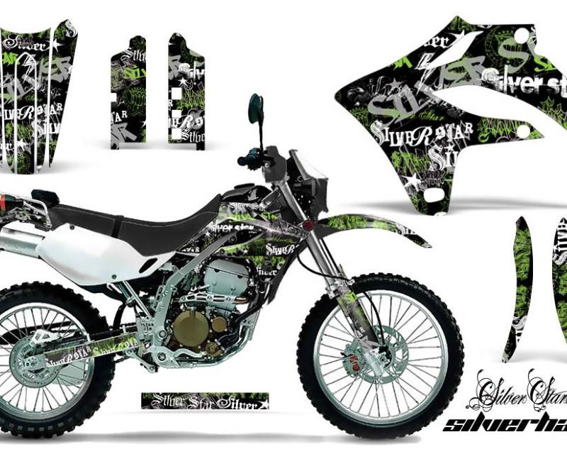 AMR Racing Dirt Bike Graphics Kit MX Decal Wrap For Kawasaki KLX250S 2004-2007áSSSH GREEN BLACK