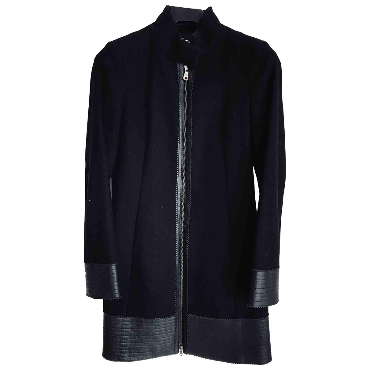 Guess - Manteau   pour femme en laine - noir