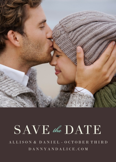 Save the Date 5x7 Cards, Premium Cardstock 120lb with Elegant Corners, Card & Stationery -Now & Forever