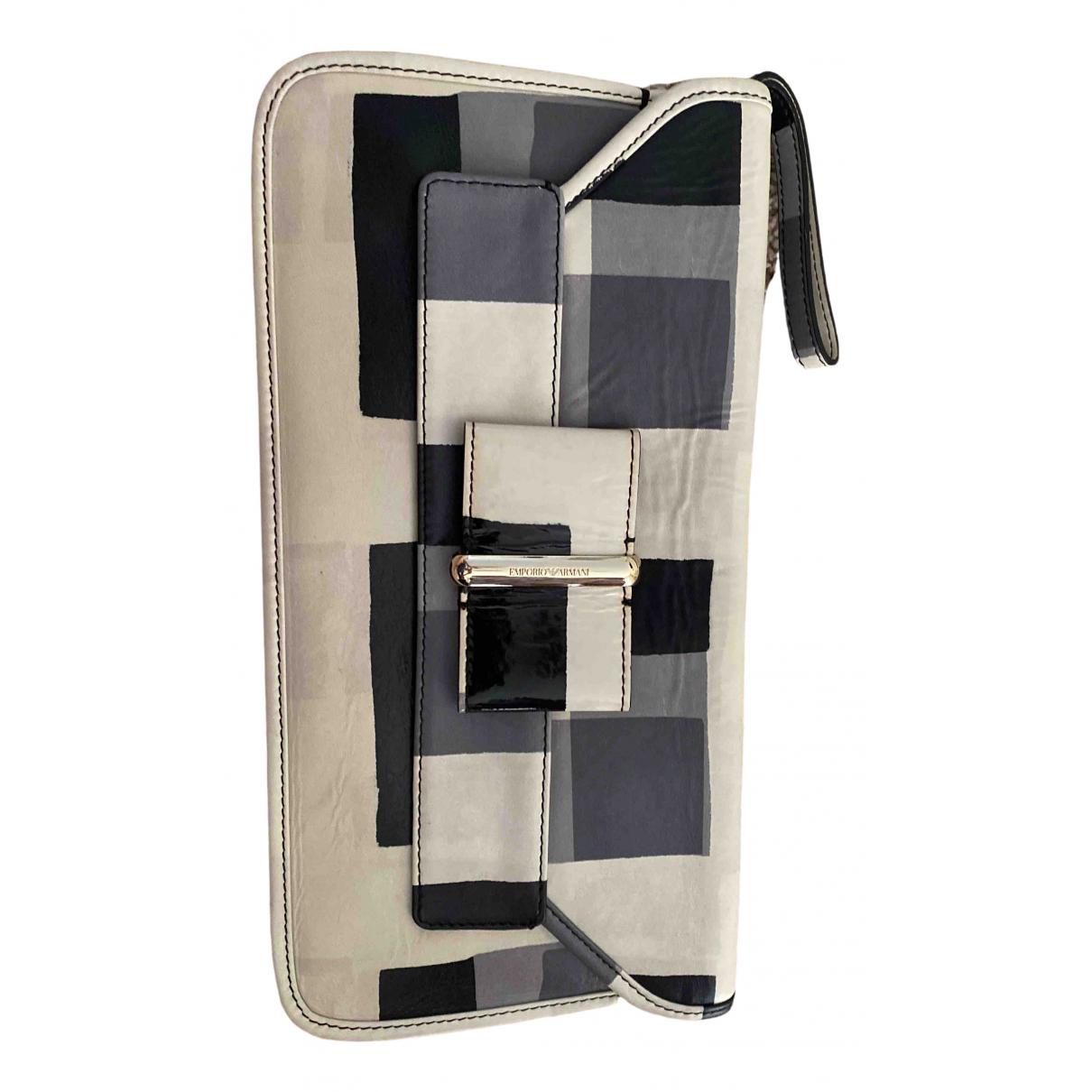 Emporio Armani \N Grey Leather Clutch bag for Women \N