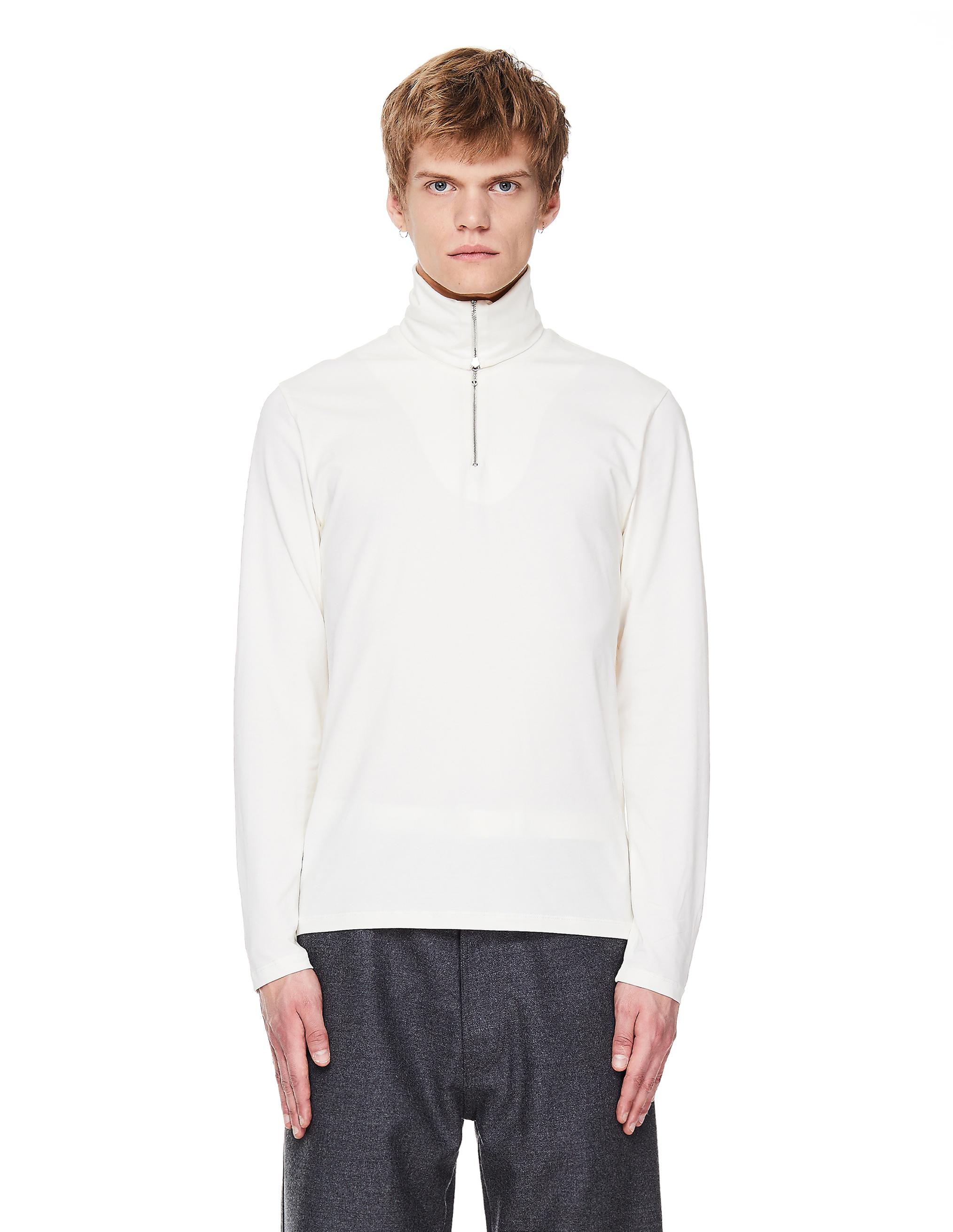 Jil Sander White Cotton Turtleneck