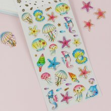 1sheet Jellyfish Print Sticker