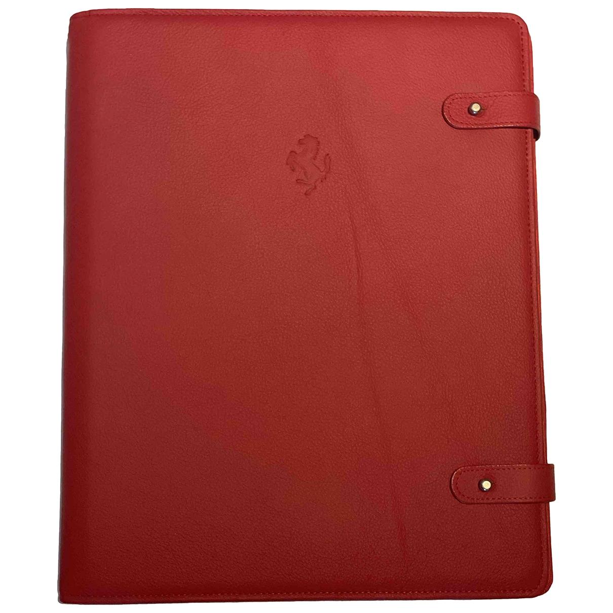 Non Signe / Unsigned \N Accessoires und Dekoration in  Rot Leder