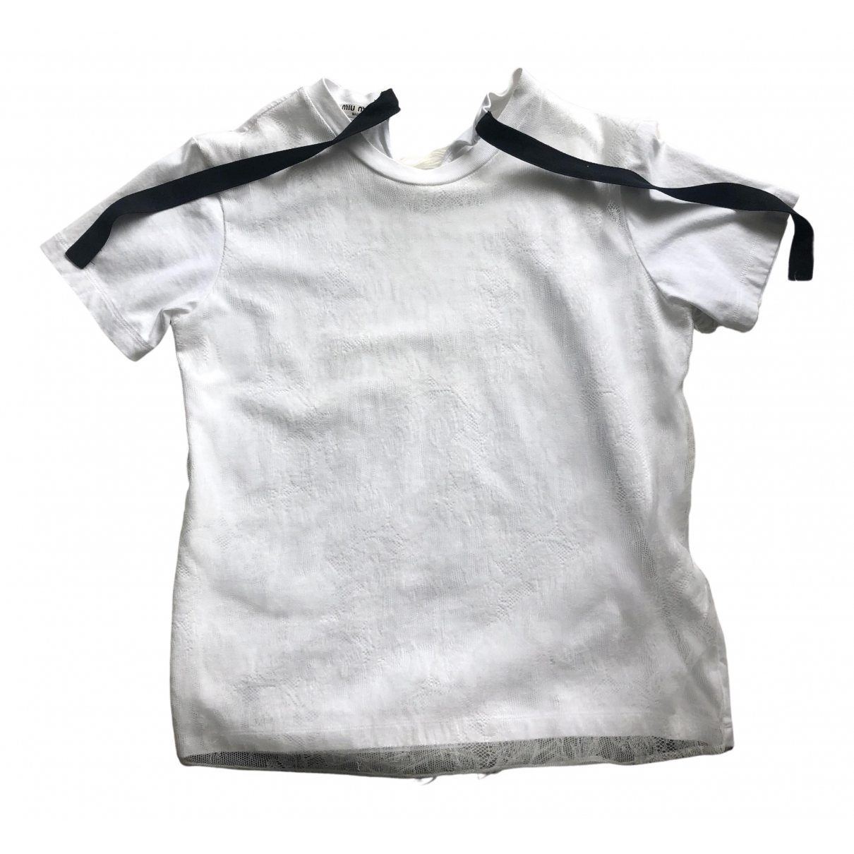 Miu Miu \N White Cotton  top for Women S International