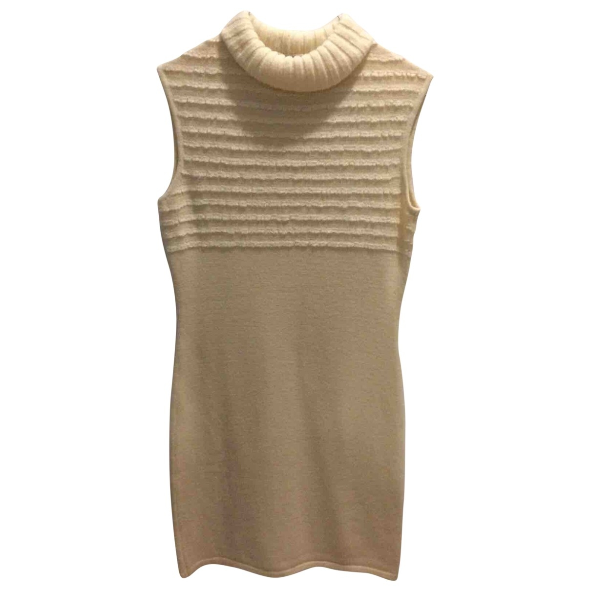 Mila Schön Concept \N Ecru Wool dress for Women 42 IT