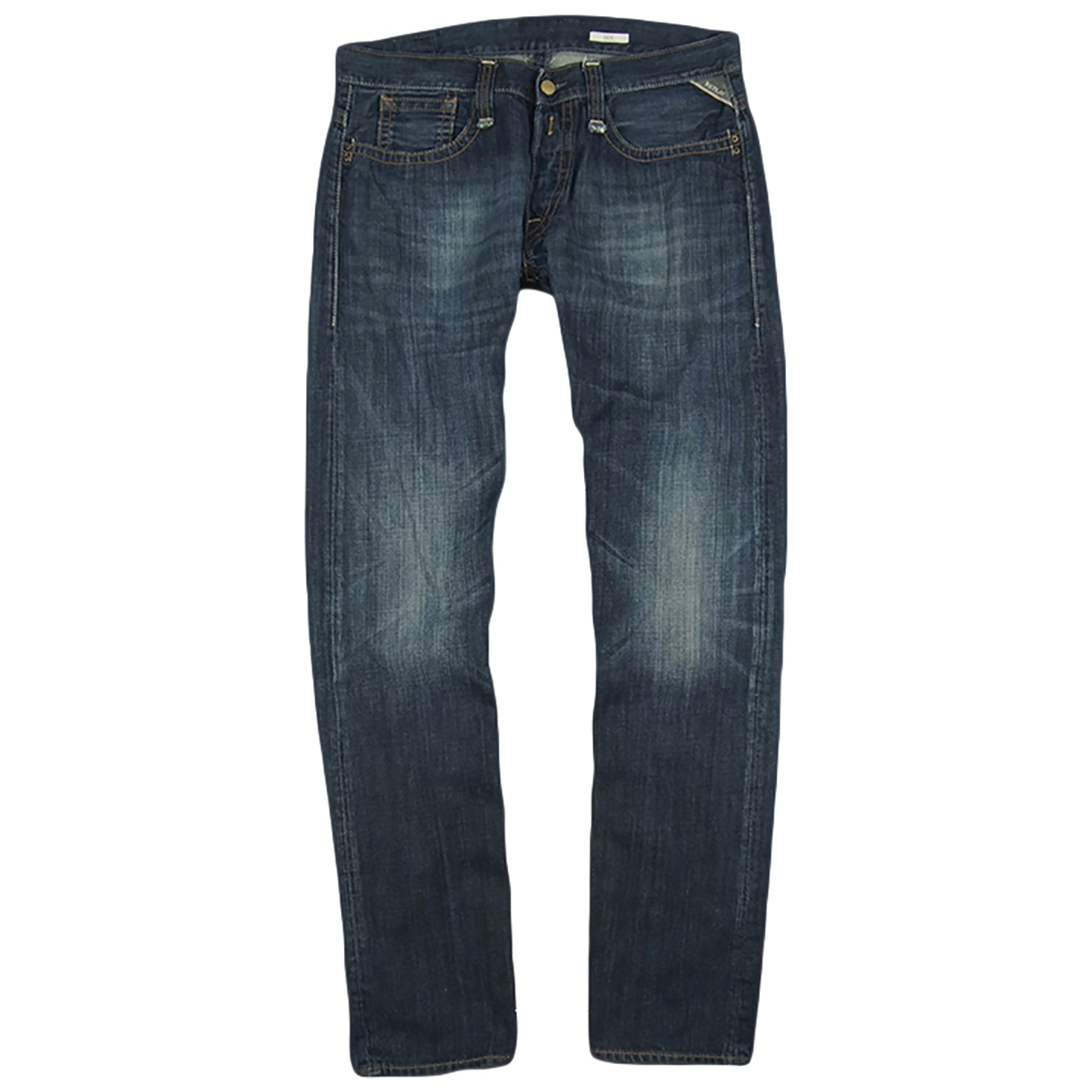 Replay \N Navy Cotton Jeans for Men 33 US