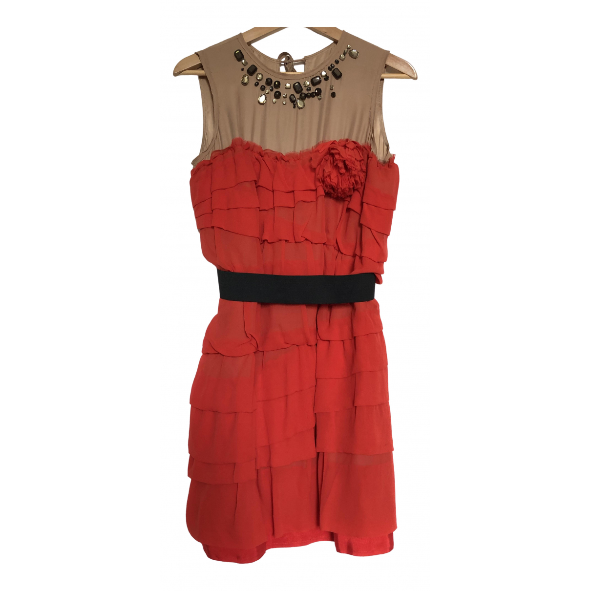 Lanvin For H&m \N Kleid in  Rot Seide