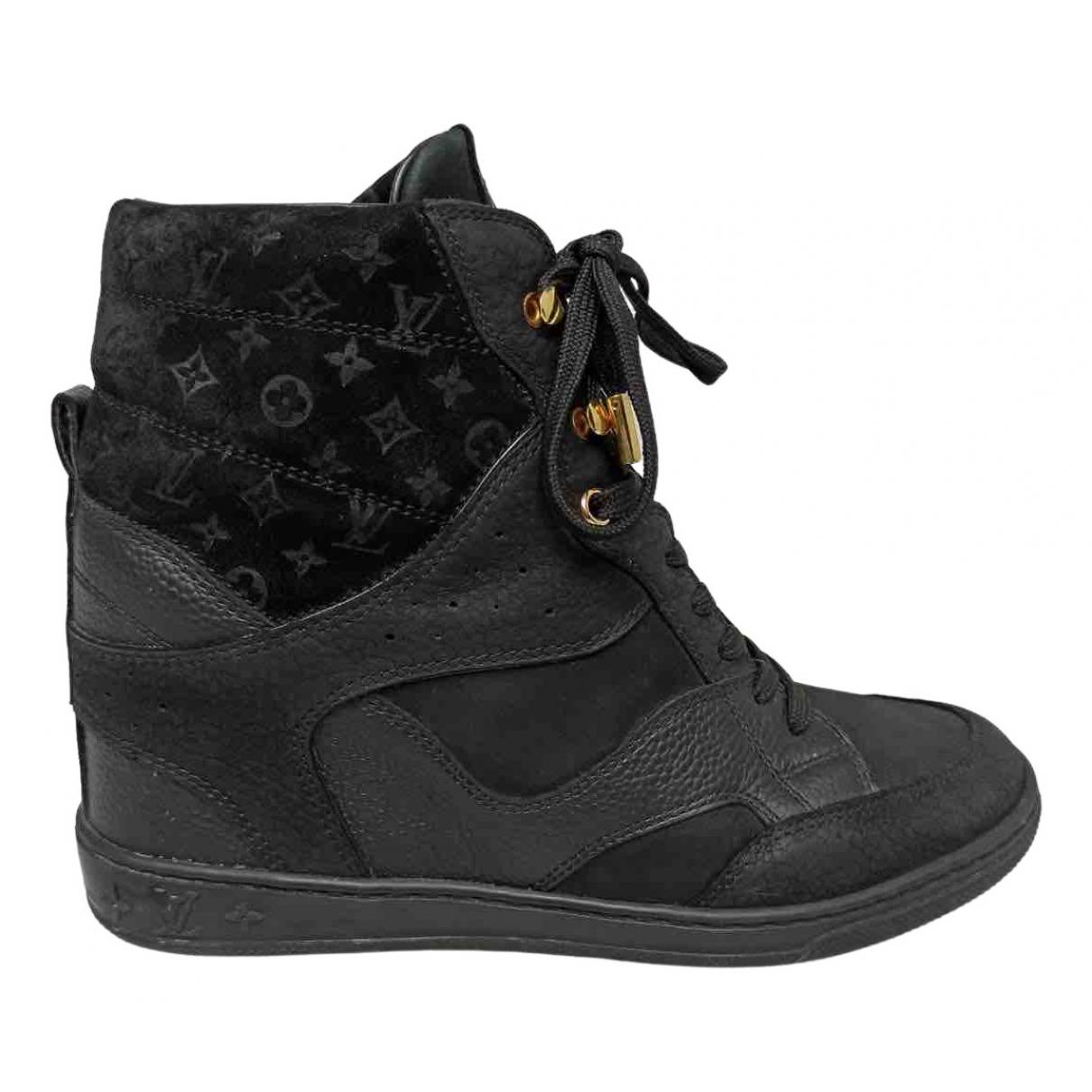Louis Vuitton N Black Leather Trainers for Women 37 EU