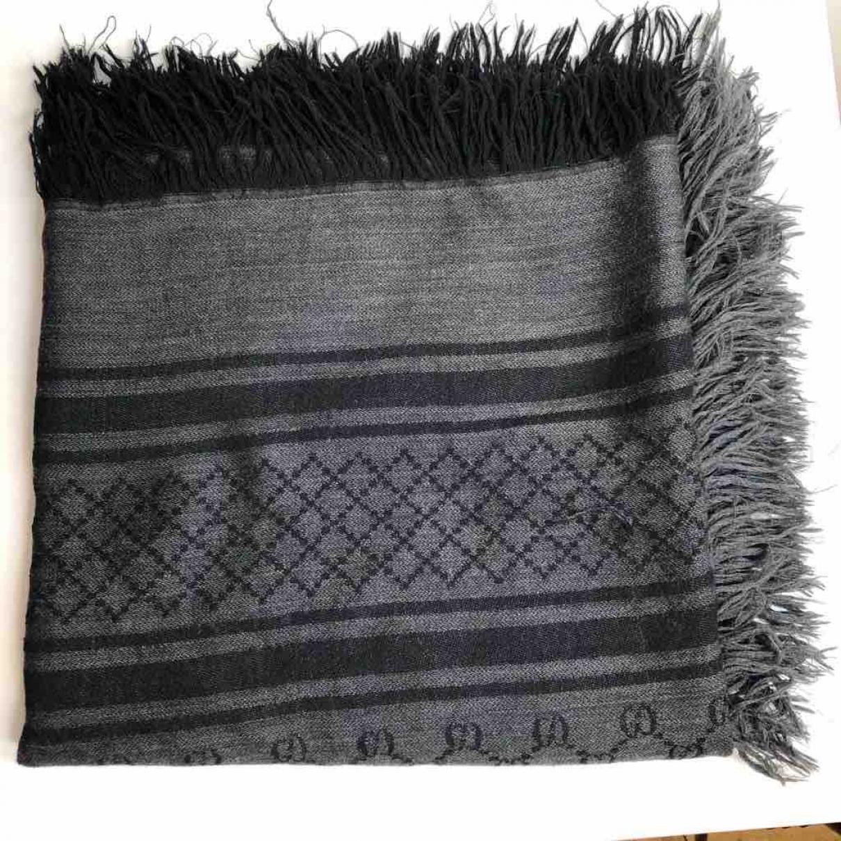 Gucci \N Grey Wool Silk handkerchief for Women \N