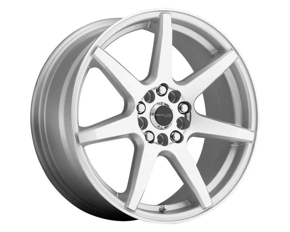 Raceline 131S EVO Silver w/ Machined Face Wheel 17X7.5 5X105|5X115 40mm