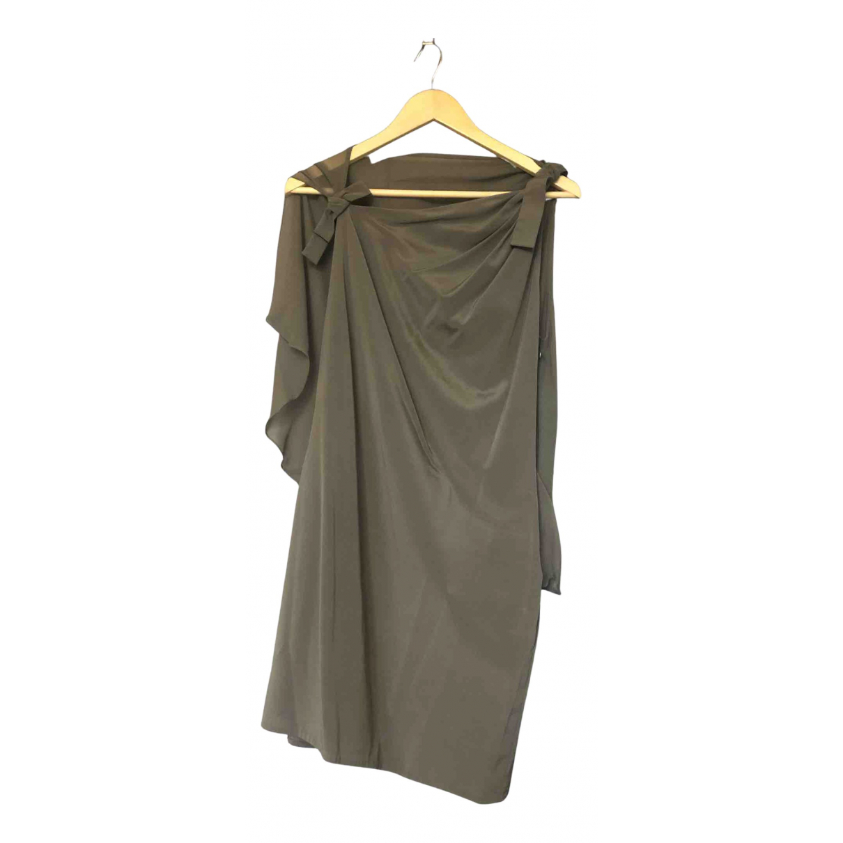3.1 Phillip Lim \N Kleid in  Khaki Seide