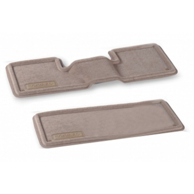 Nifty Catch-All Premium Rear Floor Mats,2nd and 3rd Row (Dark Khaki) - 659076